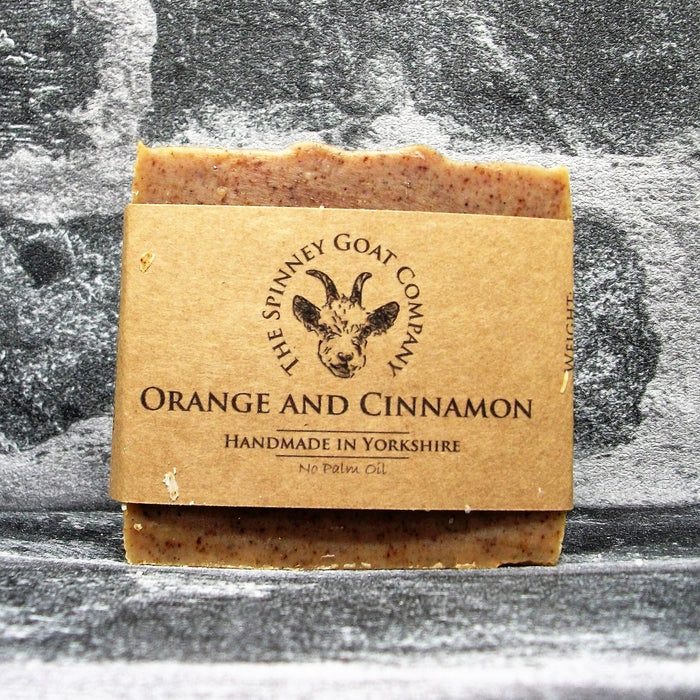 Orange & Cinnamon Goats Milk Soap Bar By The Spinney Goat Company