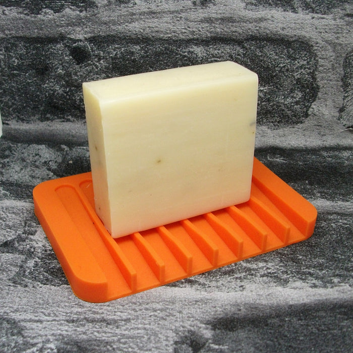 Orange Silicone Soap Dish - Adam & Eco