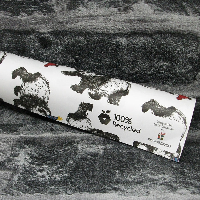 Christmas Pandas Luxury Recycled Christmas Wrapping Paper With Vegetable Ink