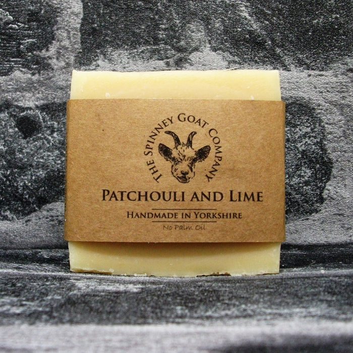 Patchouli & Lime Goats Milk Soap Bar By The Spinney Goat Company