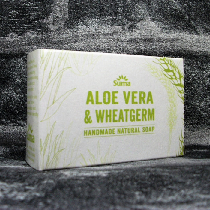 Suma Cooperative Aloe Vera & Wheatgerm Soap Bar | Adam & Eco