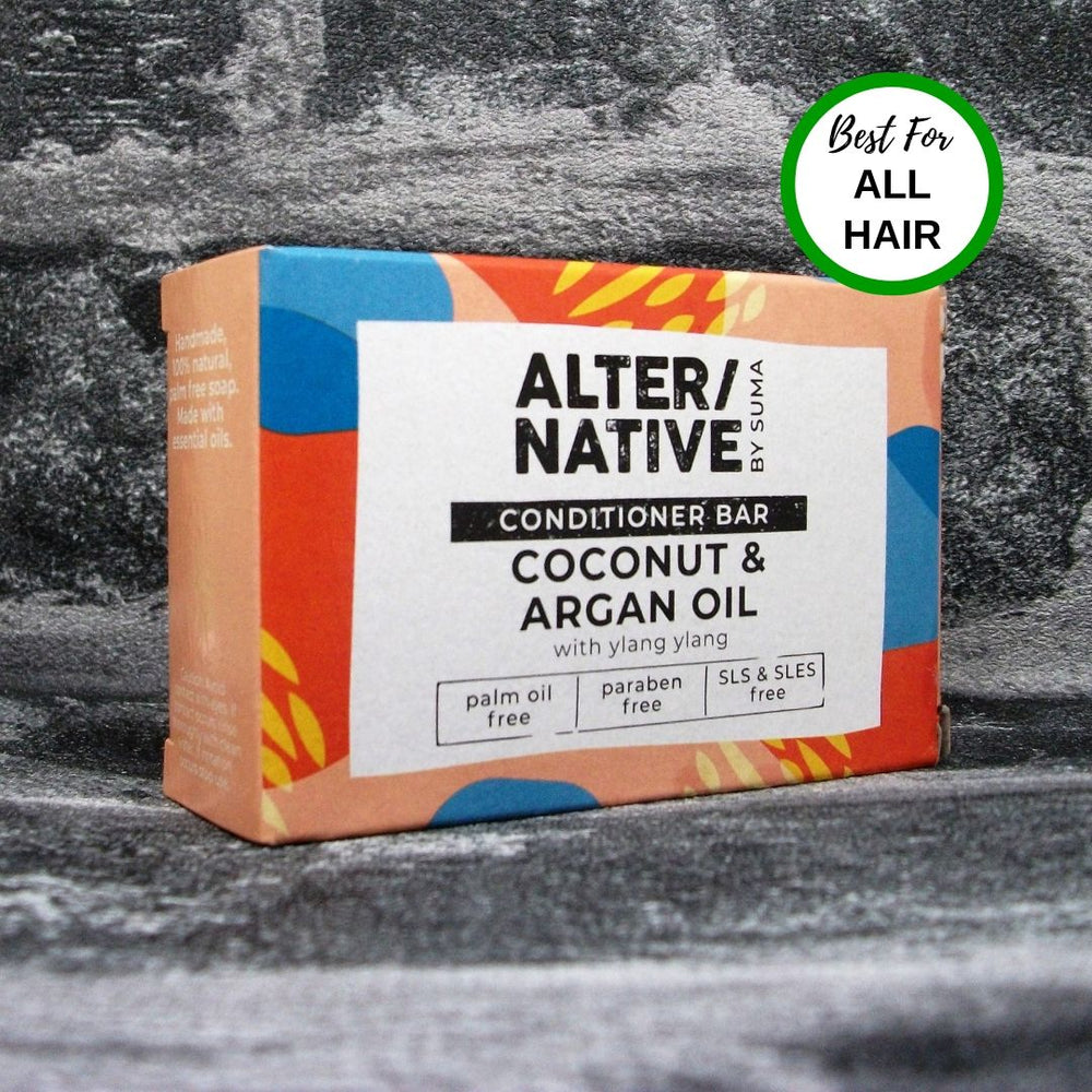 Suma Coconut & Argan Oil Solid Conditioner Bar For All Hair Types