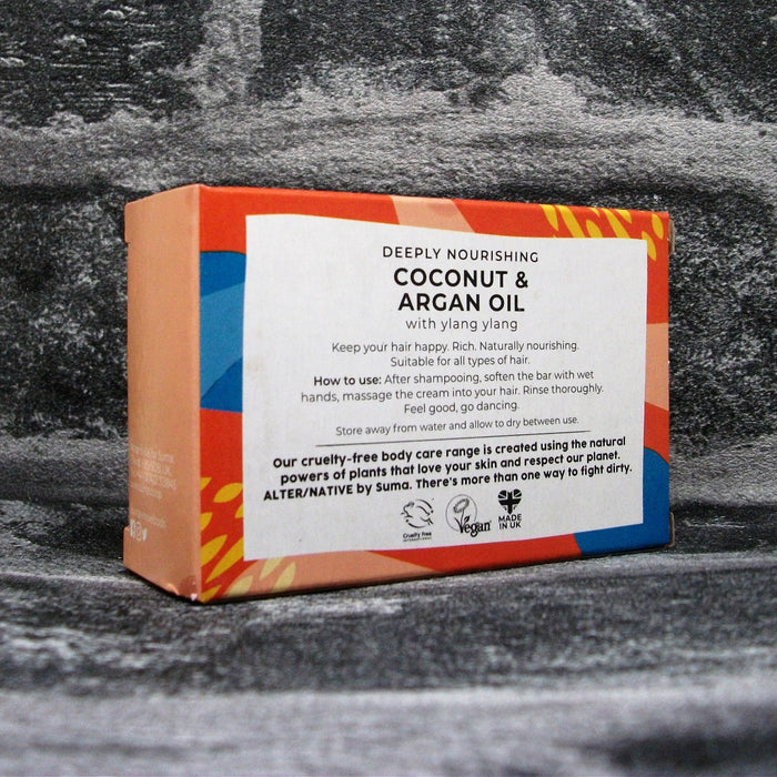 Suma Coconut & Argan Oil Solid Conditioner Bar For All Hair Types Reverse