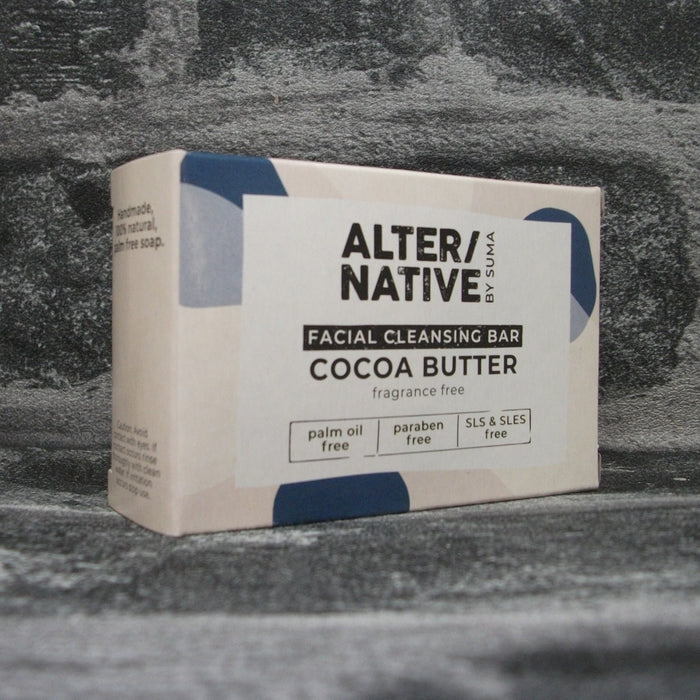 Suma Cocoa Butter Facial Cleansing Soap Bar | Fragrance Free