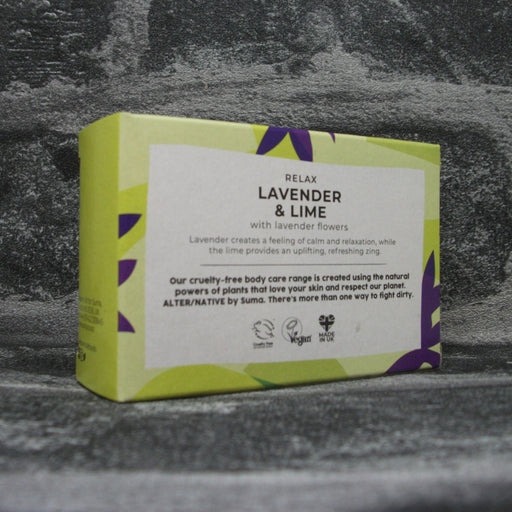 Suma Lavender & Lime Soap Bar Reverse