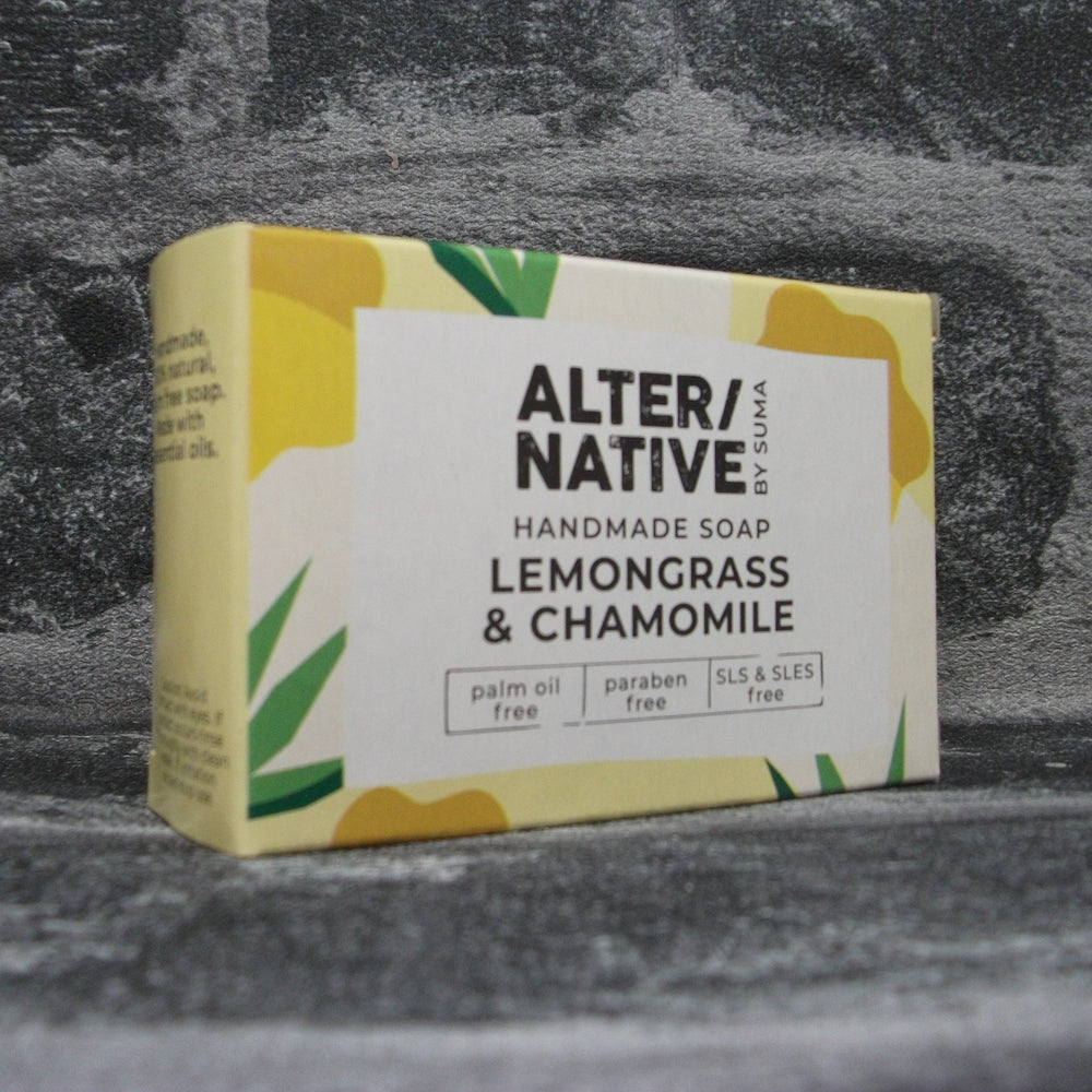Suma Lemongrass & Chamomile Soap Bar | Adam & Eco