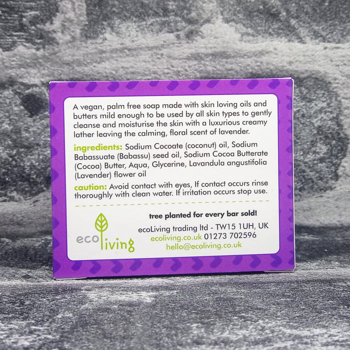 Sweet Dreams Lavender Natural Handmade Soap Bar By Eco Living Reverse