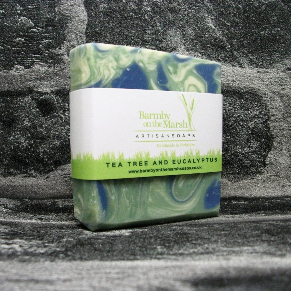 Tea Tree & Eucalyptus Soap Bar By Barmby On The Marsh Artisan Soaps | Adam & Eco