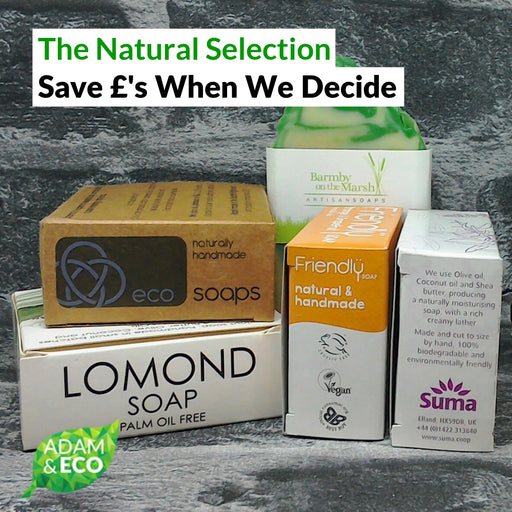 The Natural Soap Bar Selection Cover Image | Adam & Eco