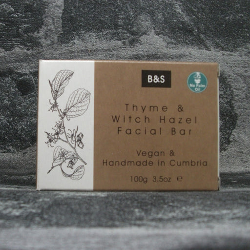 Thyme & Witch Hazel Natural Face Soap Bar For Acne & Oily Skin Types