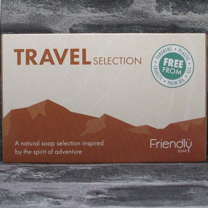 Travel Soap Selection Gift Box With 4 Handmade Soap Bars For Hair, Face, Body & Laundry