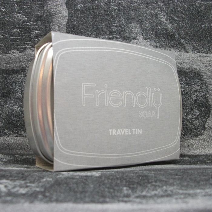 Friendly Soap Travel Tin With Outer Sleeve Front