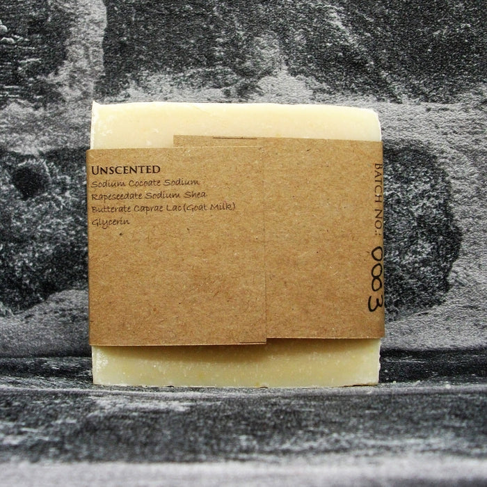 Unscented Fragrance Free Goats Milk Soap Bar Reverse By The Spinney Goat Company