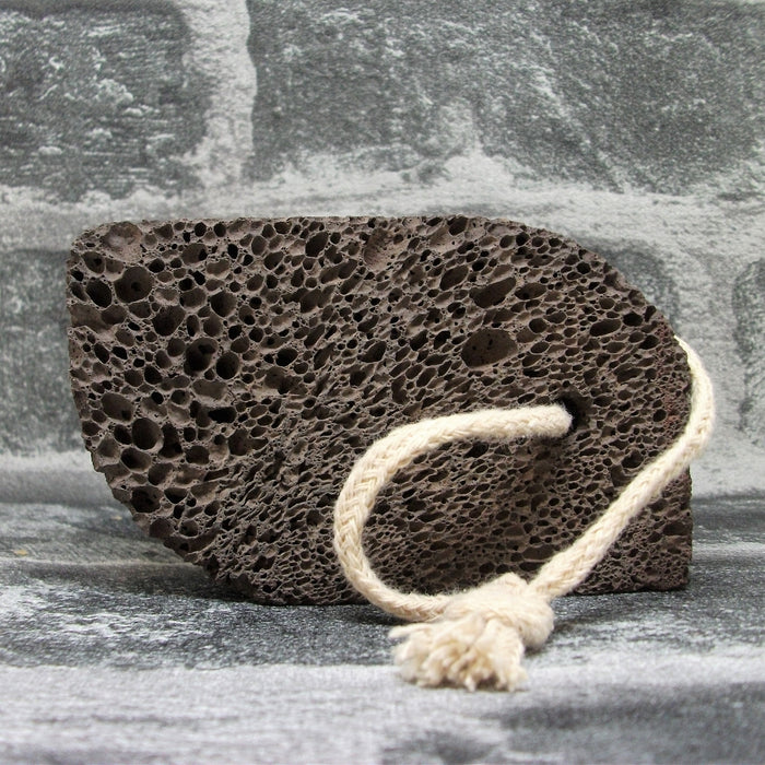 Volcanic Lava Foot Stone - Curved Rectangle Shape - Adam & Eco