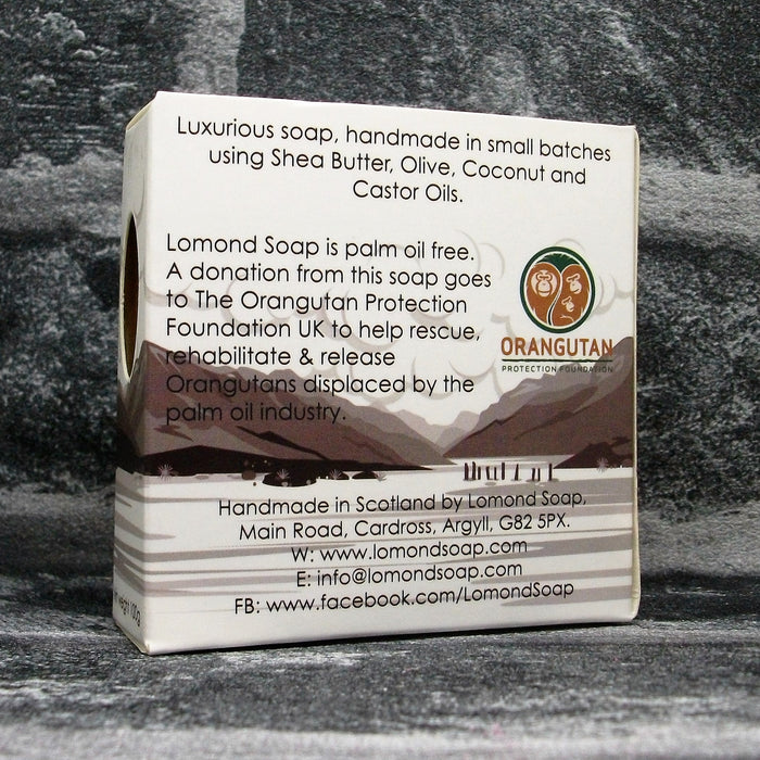 Whisky & Ginger Soap Bar By Lomond Soap - Back - Adam & Eco