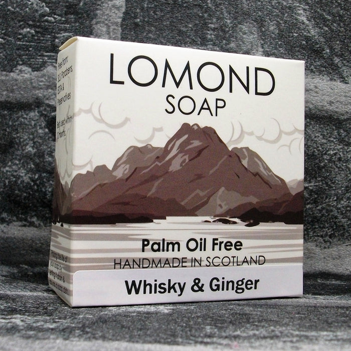 Whisky & Ginger Soap Bar By Lomond Soap - Front - Adam & Eco