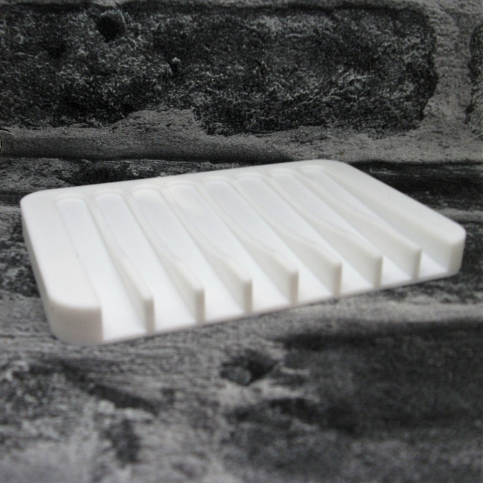 White Silicone Soap Dish - Adam & Eco