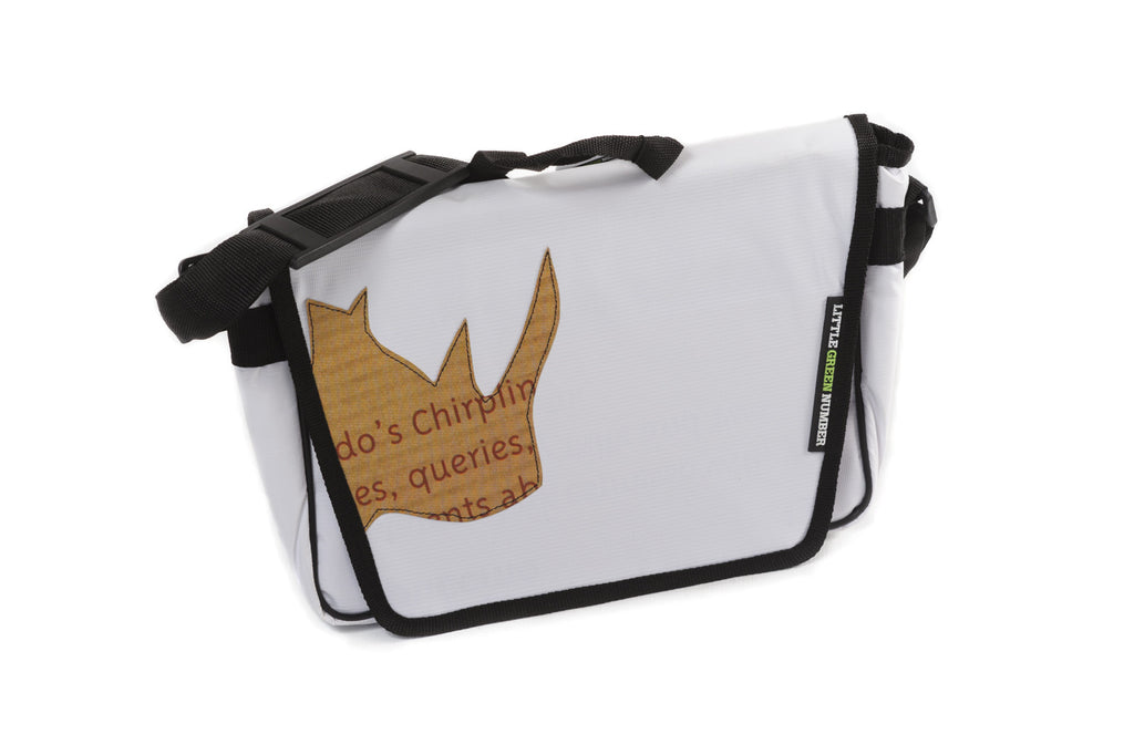 Funky Laptop Bag with Rhino Applique