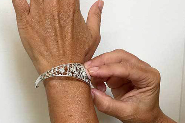 How to Put on a Cuff Bracelet