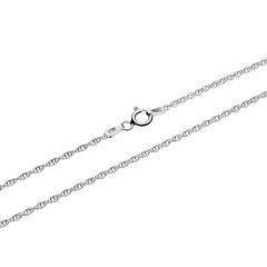 An italian sterling silver chain in rope style by Hiamalayan Gems.