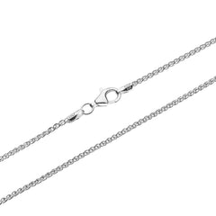 An Italian sterling silver chain in wheat style by Himalayan Gems.
