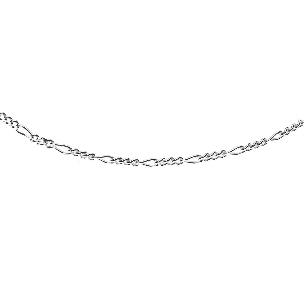 Sterling Silver Italian Figaro 4 Link Chain - 1.4mm