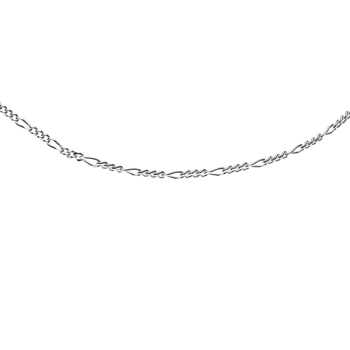 Sterling Silver Italian Figaro 4 Link Chain - 1.6mm