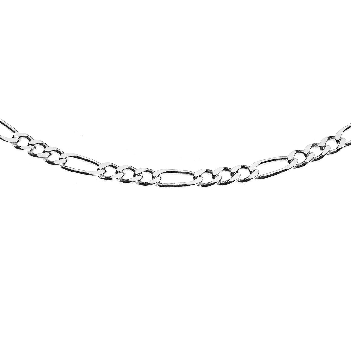 Sterling Silver Italian Figaro 4 Link Chain - 3.1 mm
