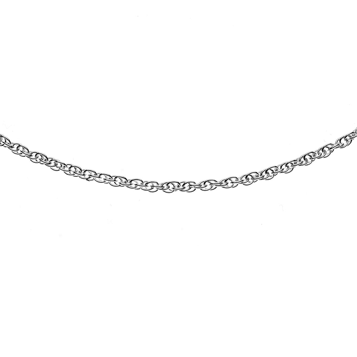 Sterling Silver Italian Double Link Rope Chain - 1.7mm