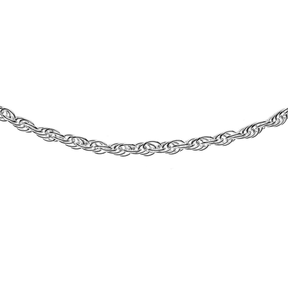 Sterling Silver Italian Double Link Rope Chain - 2.1mm