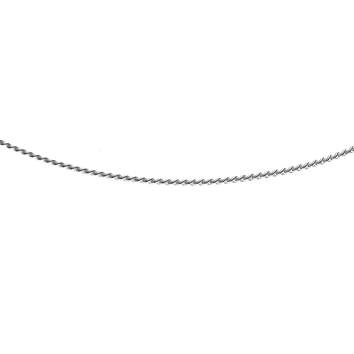 Sterling Silver Italian Double Sided Diamond Cut Curb Chain - 1.4mm