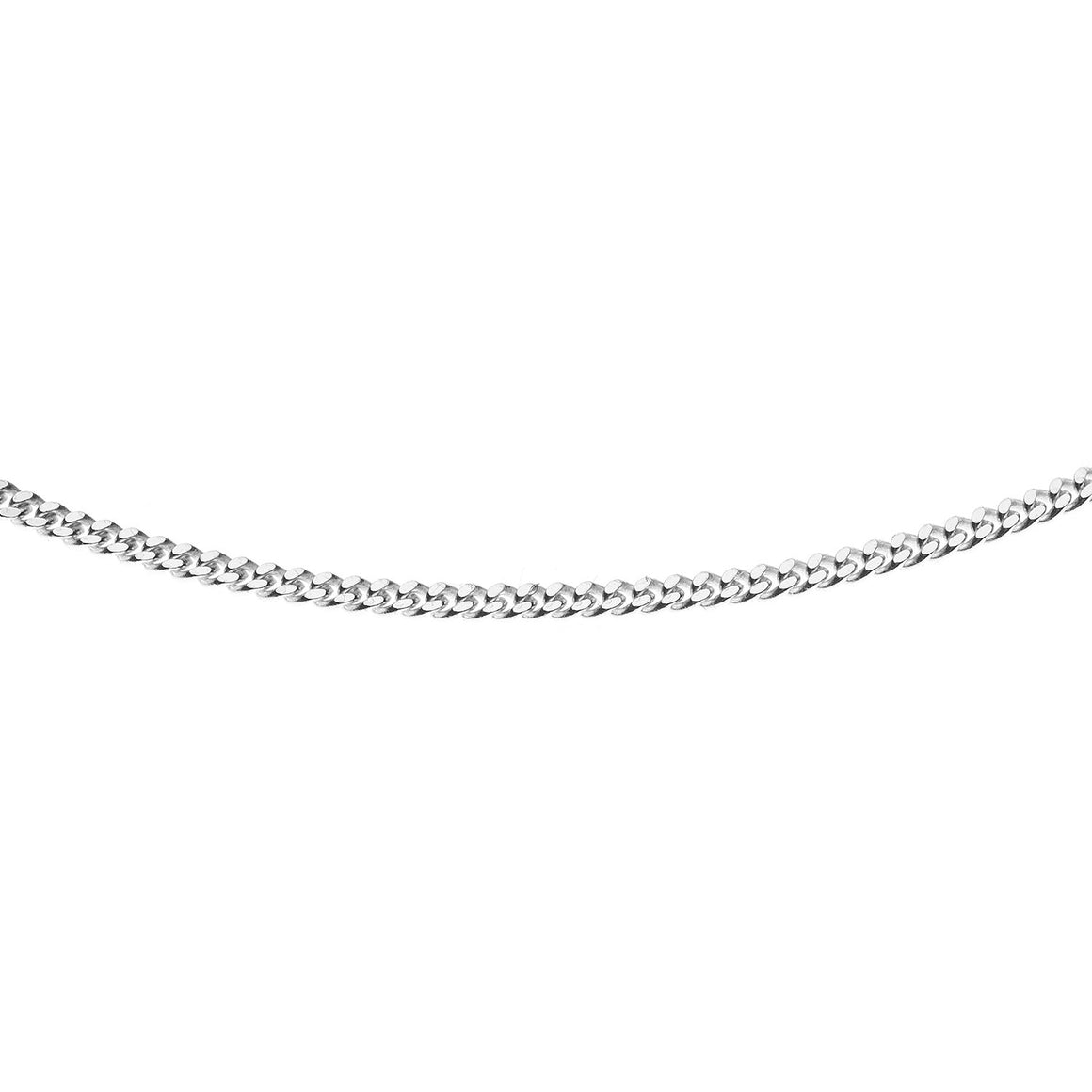 Sterling Silver Italian Double Sided Diamond Cut Curb Chain - 1.6mm