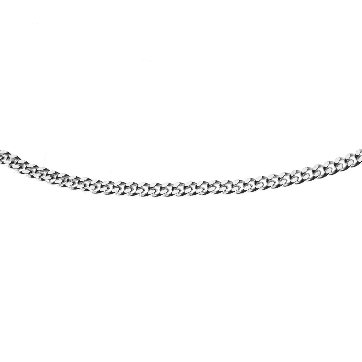 Sterling Silver Italian Double Sided Diamond Cut Curb Chain - 1.9mm