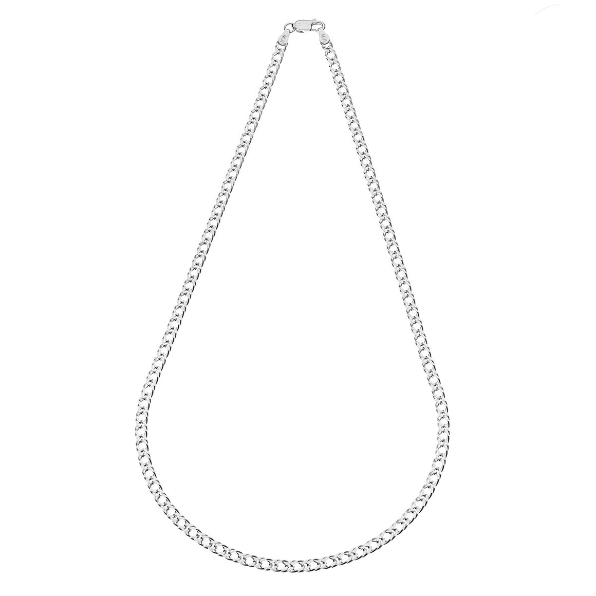 Sterling Silver Italian Double Link Chain - 3.7 mm