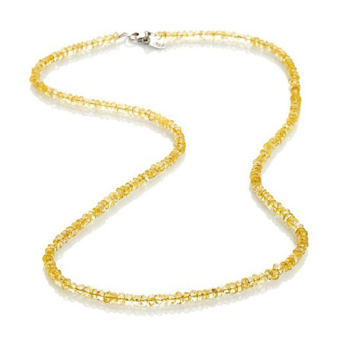 "Citrine 19"" Gemstone Bead Necklace"