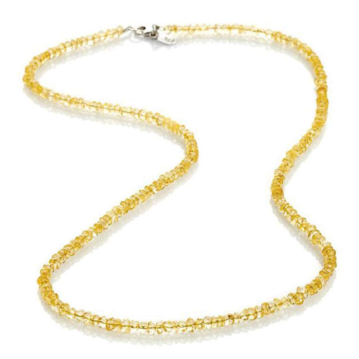 "Citrine 24"" Gemstone Bead Necklace"