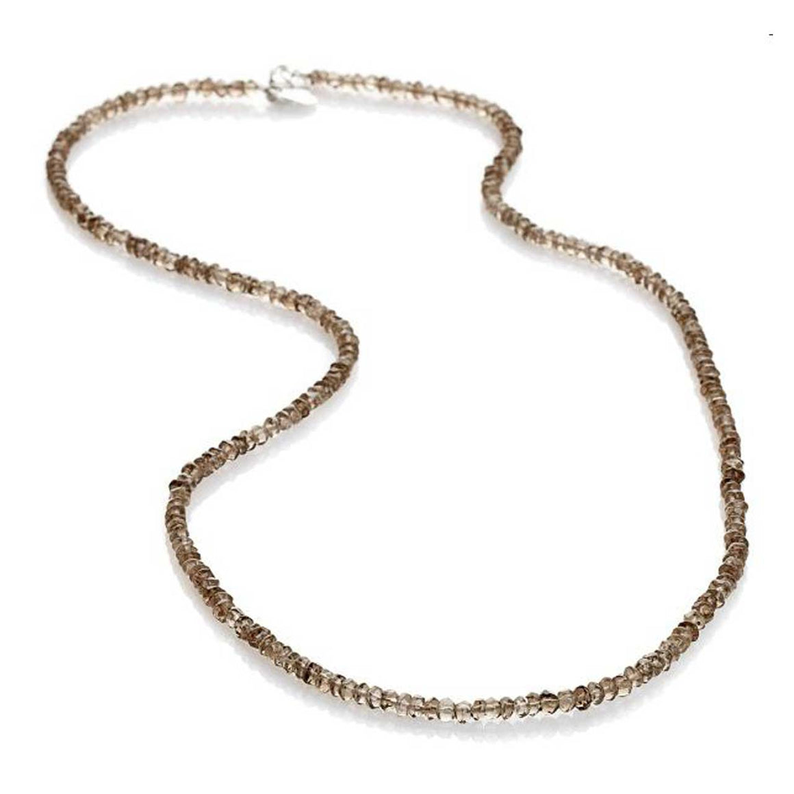 "Smokey Quartz 19"" Gemstone Bead Necklace"