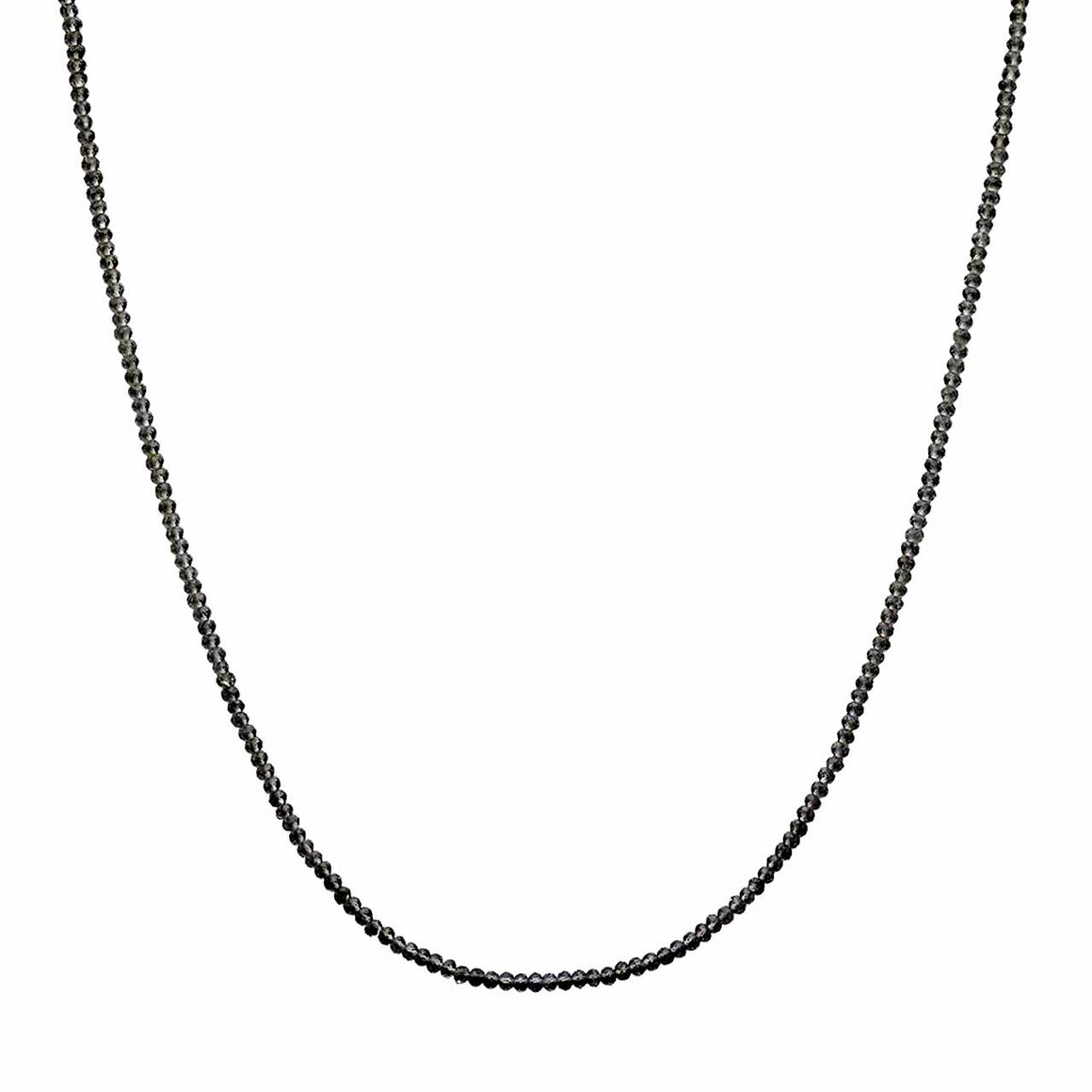 "Black Spinel 19""Gemstone Bead Necklace"