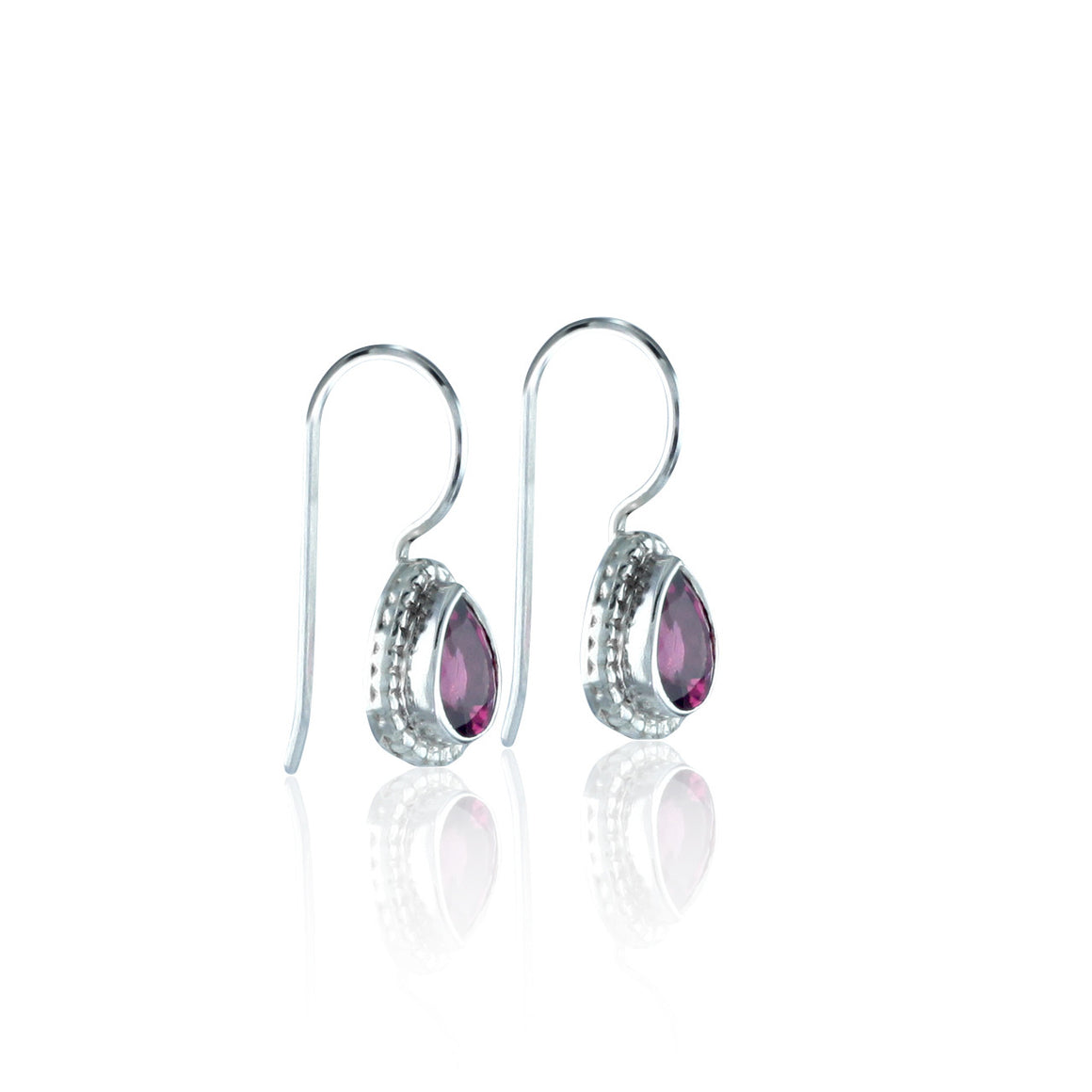 Rhodolite Garnet Frenchwire Earrings
