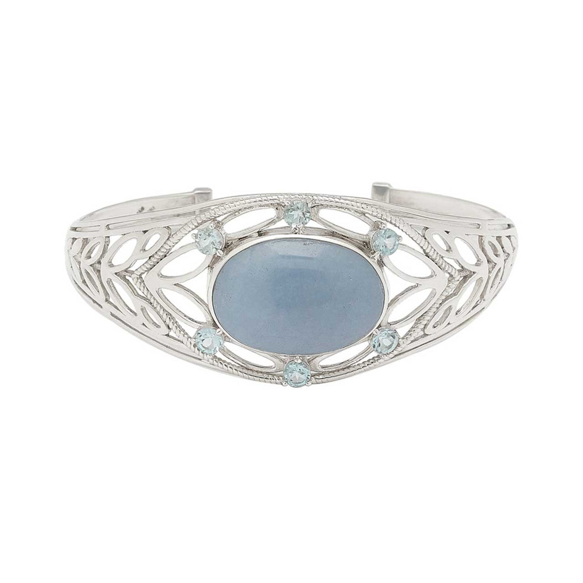 Angelite and Blue Topaz Bracelet