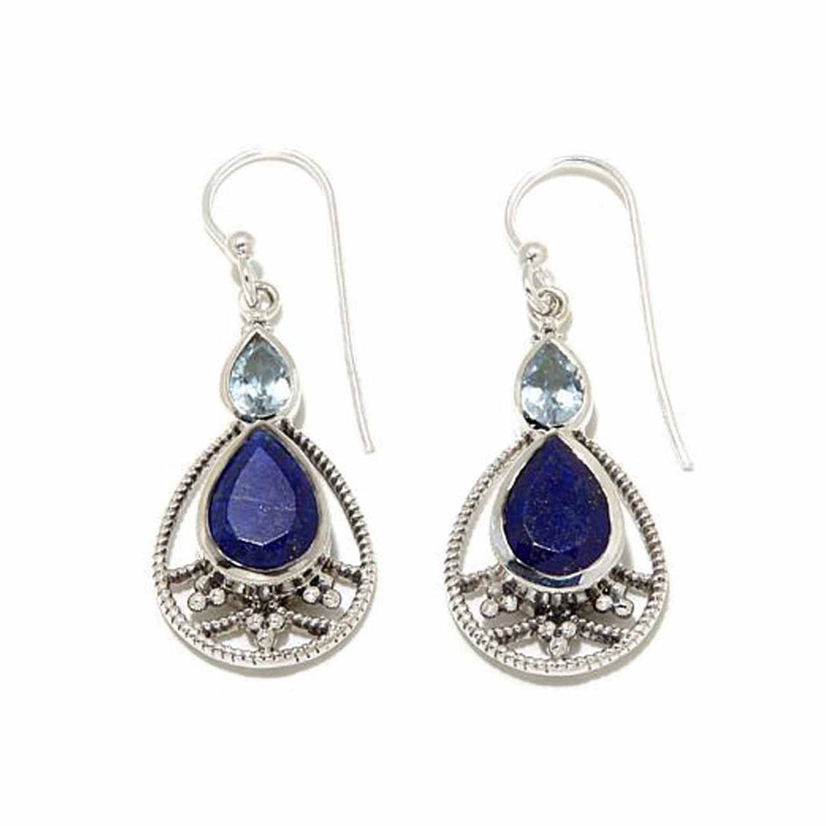 Lapis and Blue Topaz Earrings