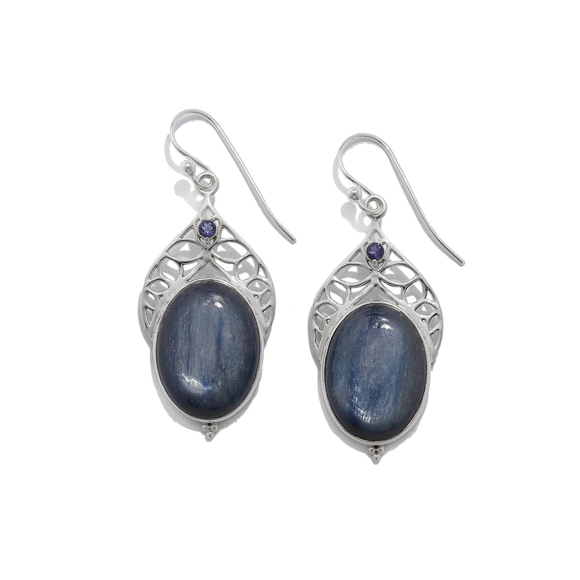 Kyanite and Iolite Earrings