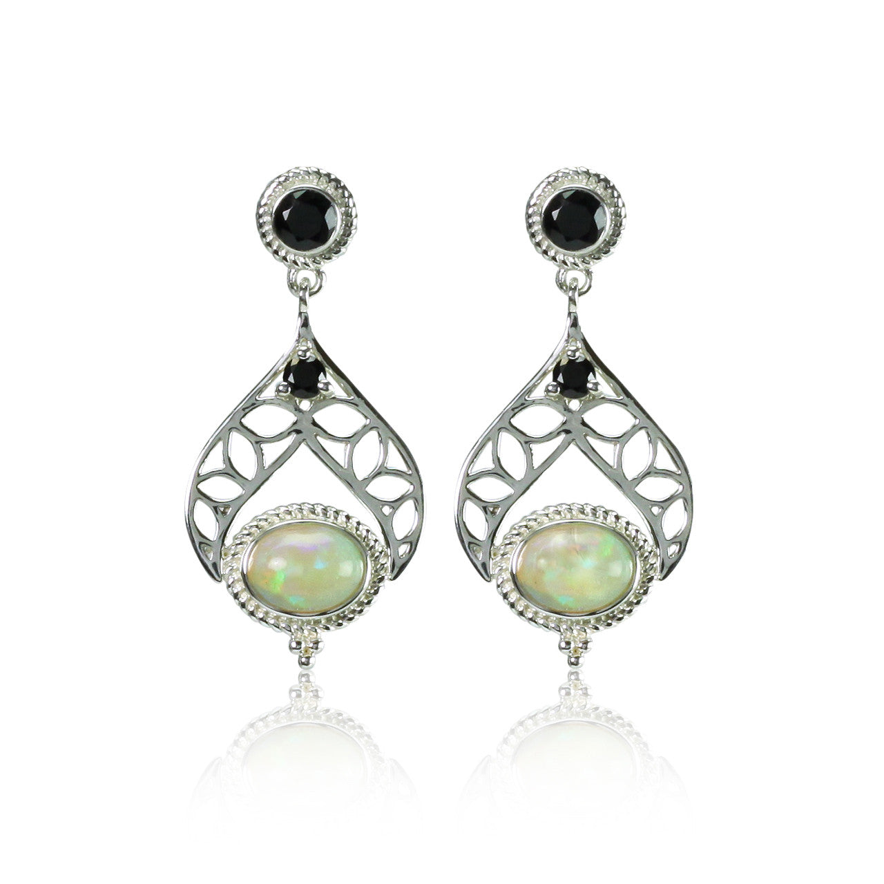evon by earrings spinel pyrite q black