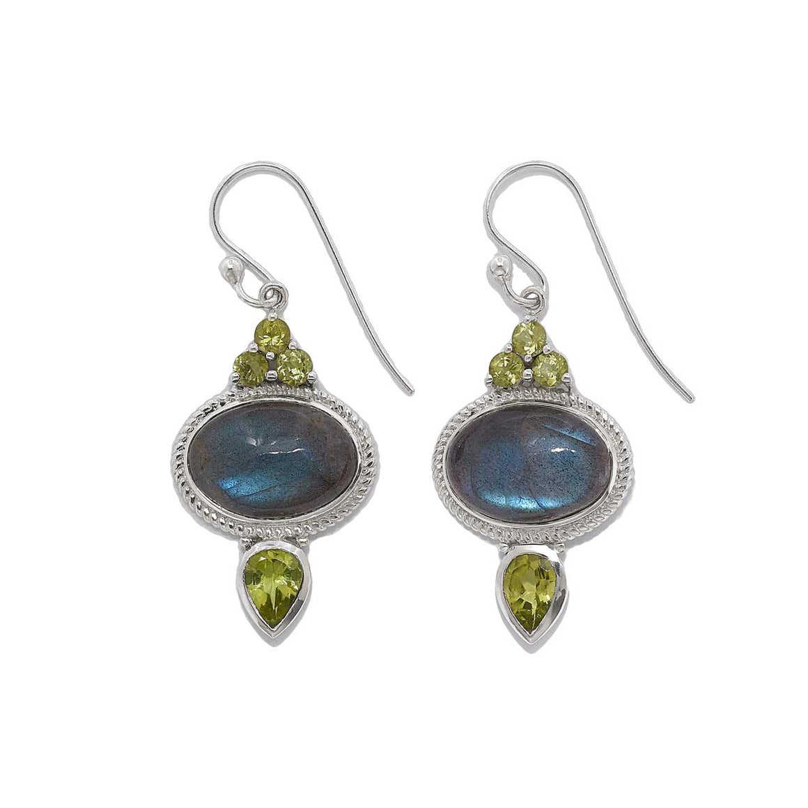 Labradorite and Peridot Earrings