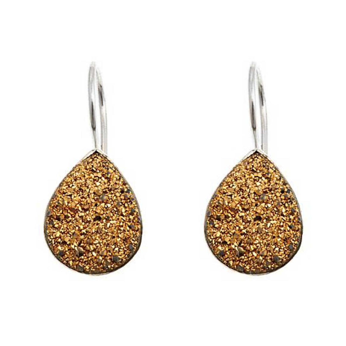 Gold Drusy Earrings