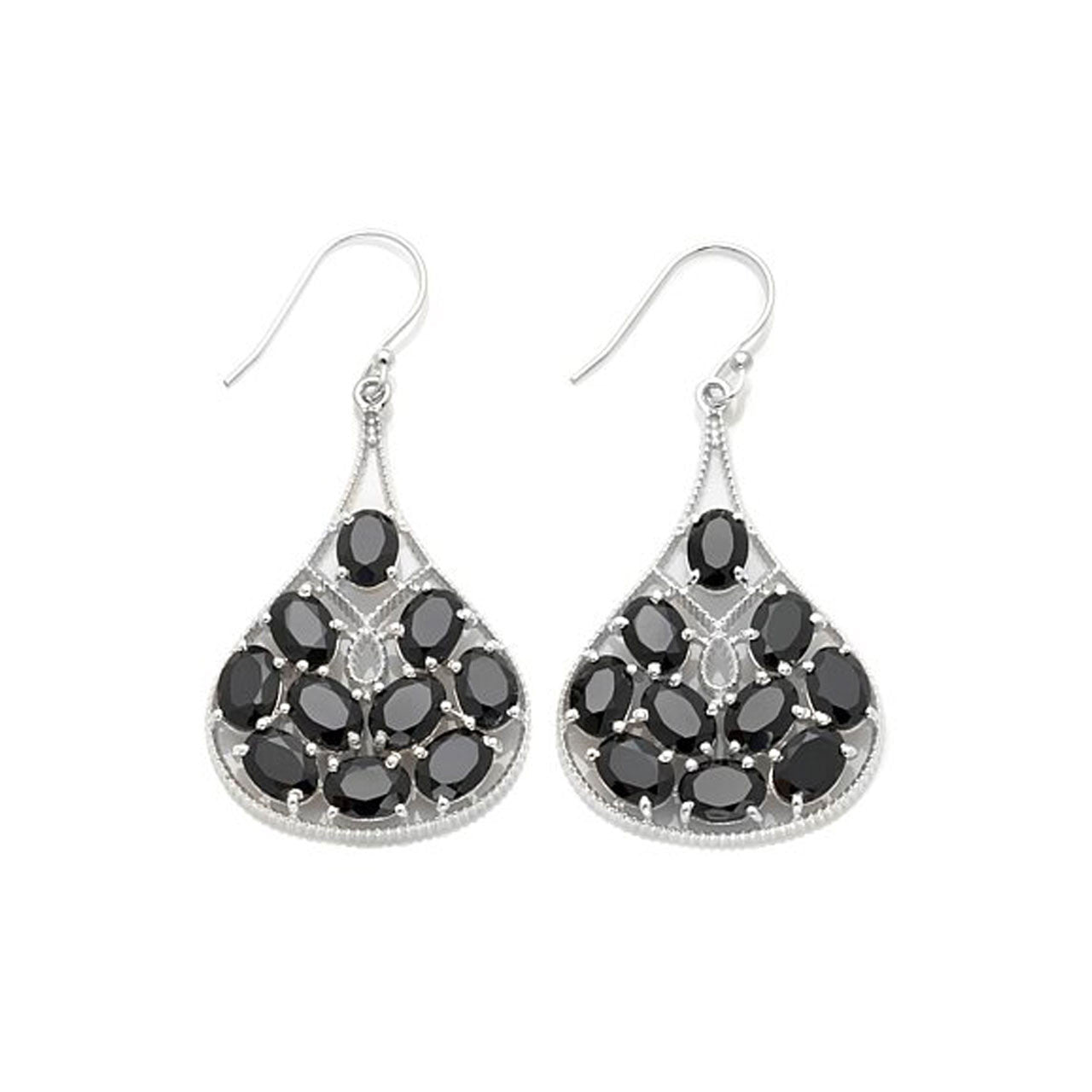 left black bank gallery earrings spinel products