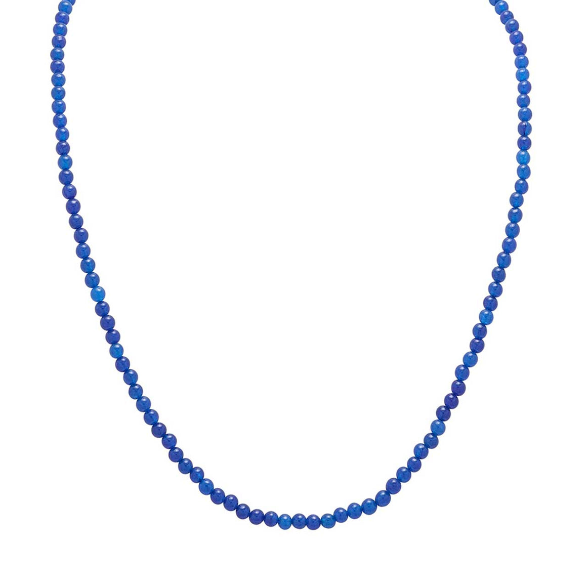 "Blue Chalcedony 20"" Beaded Necklace"