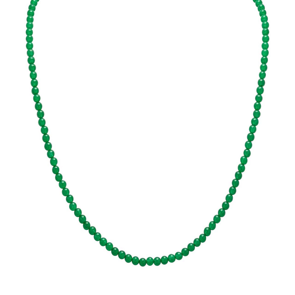 "Green Chalcedony 20"" Beaded Necklace"
