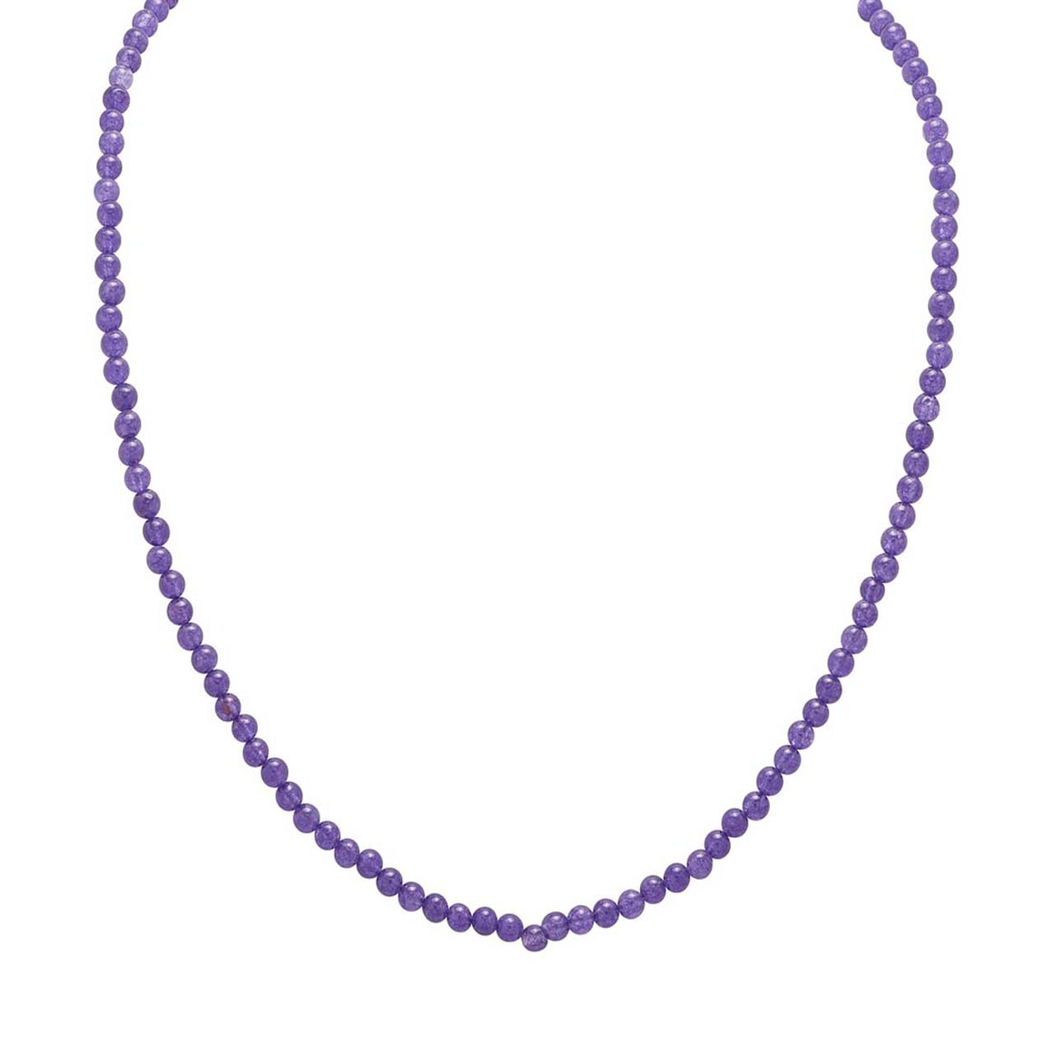 "Purple Chalcedony 20"" Beaded Necklace"