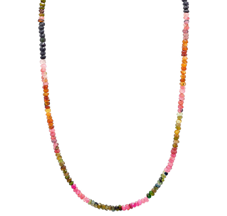 Multi Coloured Tourmaline Gemstone Bead Necklace